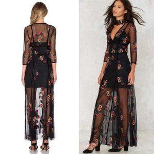 Rare! For love&lemons maxi dress in black
